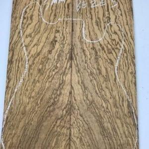 Birds Eye Zebrano BEXE 3 -(5mm Sanded) - Exotic Hardwoods UK LTD